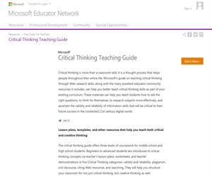 Critical Thinking Teaching Guide
