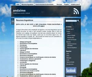 Recursos linguísticos de gallego (Andaime)
