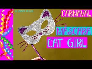 Cómo hacer una máscara de Carnaval de gato
