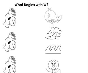 Activity Sheet - Draw a line to W (Educarchile)