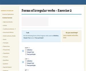 Forms of irregular verbs - Exercise 2 (englisch-hilfen.de)