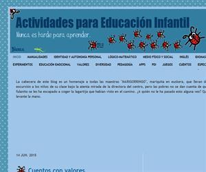 Actividades para Educación Infantil (Blog Educativo de Educación Infantil)
