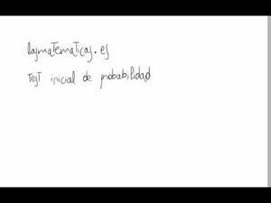 Test inicial de probabilidad