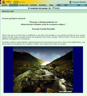 El modelo del paisaje II (Proyecto Biosfera)
