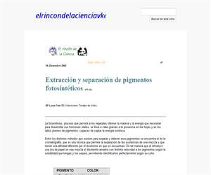 Extracción y separación de pigmentos fotosintéticos