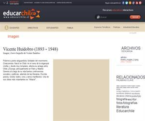 Vicente Huidobro (1893 - 1948) (Educarchile)