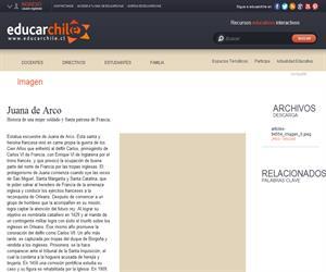 Juana de Arco (Educarchile)