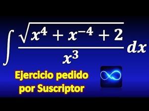 Integral de raíz cuadrada entre x^3, simplificando, haciendo suma de fracciones, factorizando, etc