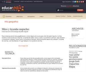 Mitos y leyendas mapuches (Educarchile)