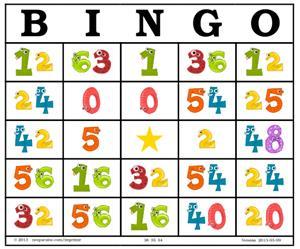 Bingo de multiplicaciones (neoparaiso.com)