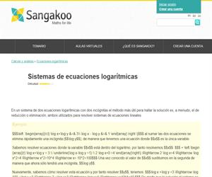 Sistemas de ecuaciones logarítmicas