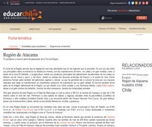3era Región Patrimonio Regional (Educarchile)