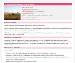 La producción de alimentos en la Argentina