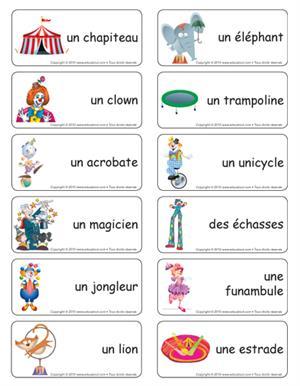 Vocabulario del circo en francés
