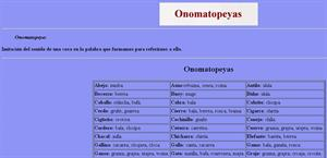 Listado de onomatopeyas