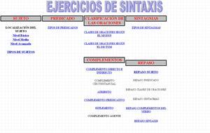 Ejercicios de sintaxis interactivos