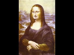 La Gioconda con bigote L.H.O.O.Q  de Marcel Duchamp
