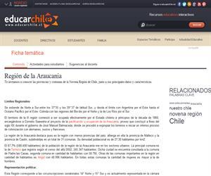 9na Región División política administrativa (Educarchile)