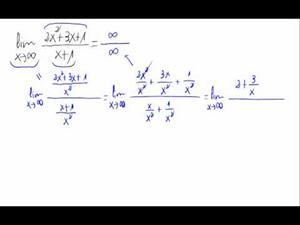 Límite cuando x tiende a infinito - Cociente de polinomios