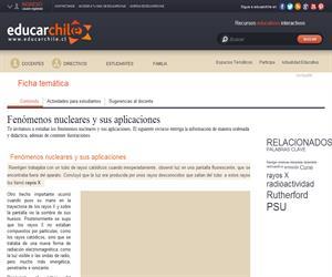 Fenómenos nucleares y sus aplicaciones (Educarchile)
