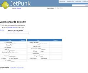 Jazz Standards Titles 2