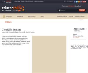 Clonación Humana (Educarchile)