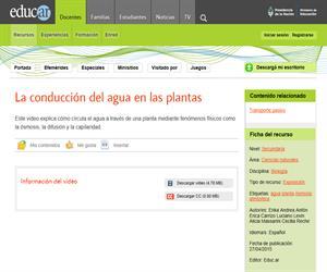 Conducción del agua en las plantas