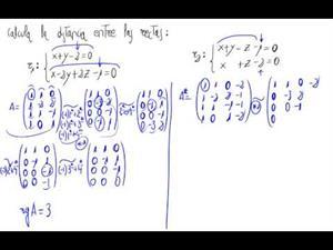 Distancia entre dos rectas (secantes)