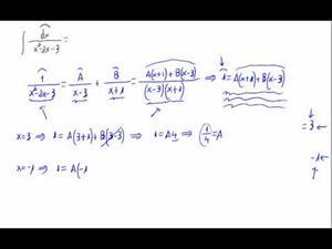 Integral racional - Descomposición fracciones simples