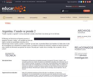 Argentina. Cuando se prende 2 (Educarchile)