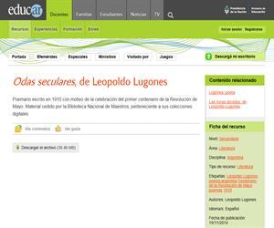 Leopoldo Lugones: Odas seculares