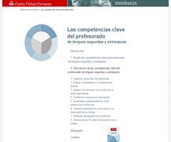 Las competencias clave del profesorado de lenguas segundas y extranjeras (CVC)