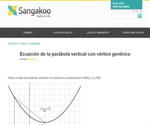 Ecuación de la parábola vertical con vértice genérico