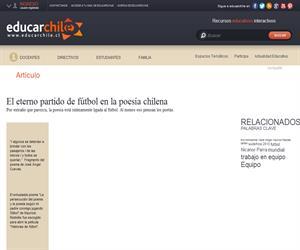 El eterno partido de fútbol en la poesía chilena (Educarchile)