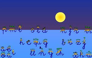 Islas y Estrellas, aprendizaje de las letras (educalandia.net)