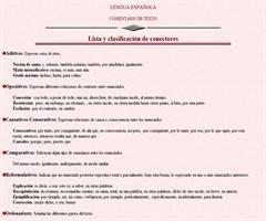 Conectores textuales (lista)