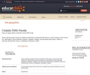 Ciudades Pablo Neruda (Educarchile)