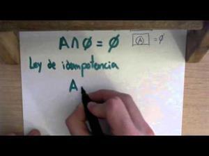 19 Teoria de Conjuntos || Ley de Idempotencia