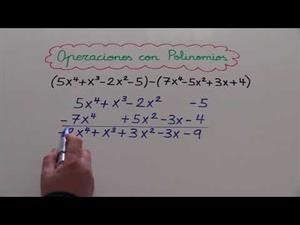 Suma, resta, multiplicación y división de polinomios