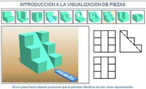 Introducción a la visualización de piezas. Ejemplo 8. Dibujo Técnico