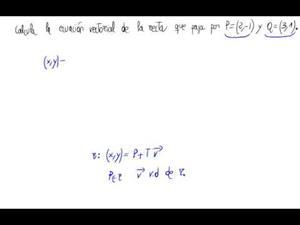 De dos puntos a ecuación vectorial