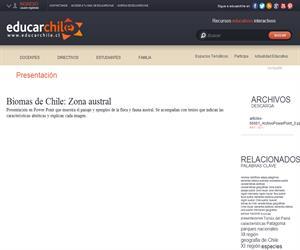 Biomas de Chile: Zona austral (Educarchile)