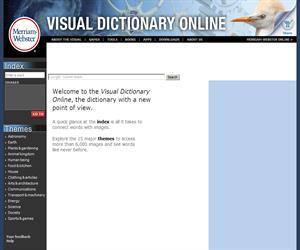 Diccionario visual en la red (Visual Dictionary Online Merriam-Webster)