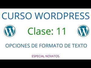 Wordpress Novatos | Clase 11 | Opciones de formato de texto