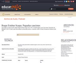 Roque Esteban Scarpa. Pequeñas canciones (Educarchile)