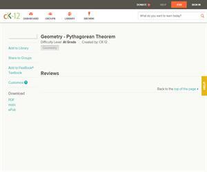 Geometry - Pythagorean Theore? At grade