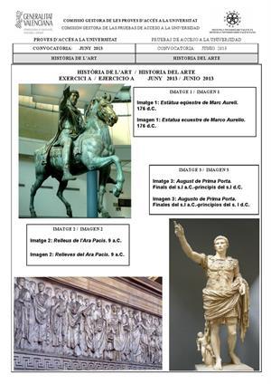 Examen de Selectividad: Historia del arte (anexos). Comunidad Valenciana. Convocatoria Junio 2013