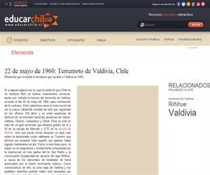 Efeméride terremoto de Valdivia (Educarchile)