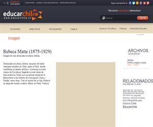 Rebeca Matte (1875-1929) (Educarchile)