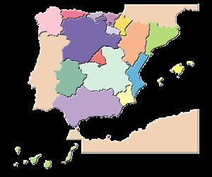 Mapa de España interactivo